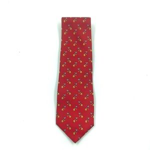 Vintage Silk Tie Red Martini's and Oranges Motif